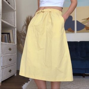 80's Yellow Skirt